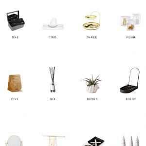 Home Trends   Vanity Decor