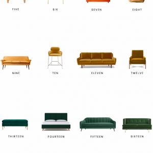 Home Trends   Velvet Furniture
