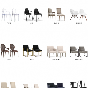 Home Trends | Dining Chair Pairs