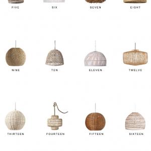 Home Trends   Woven Lighting