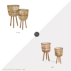 Daily Find: Gilt Sagebrook Home Wicker Planter Set vs. TJ Maxx Sagebrook Home Wicker Planter Set, wicker planter look for less, copycatchic luxe living for less, budget home decor and design, daily finds, home trends, sales, budget travel and room redos